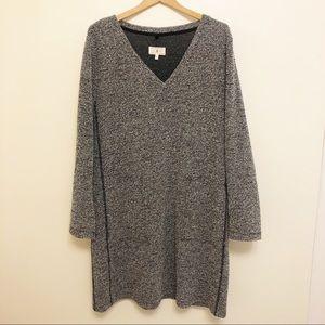 Lou & Grey grey long sleeve shift dress size large